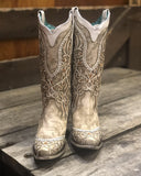 Women's Overlay Studded Western Boots
