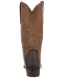 Mens Carl Sanded Shark Boots - Chocolate
