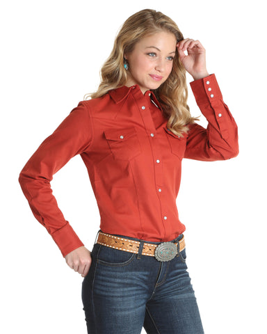 Women's Solid Western Shirt