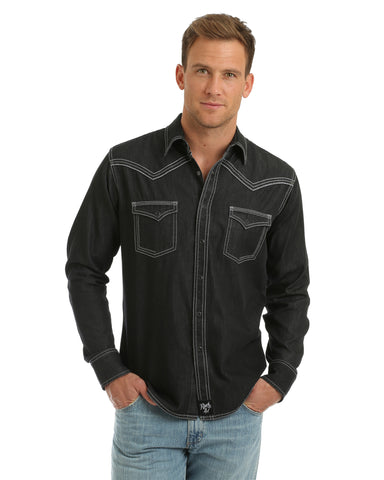 Men's Rock 47 Embroidered Western Shirt