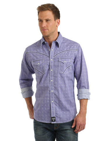 Men's Rock 47 Printed Western Shirt
