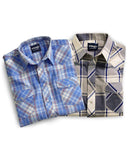 Men's Assorted Plaid Western Short Sleeve Shirts