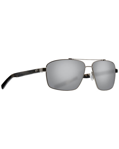 Flagler Gray Silver Mirror Sunglasses