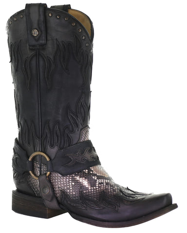 Men's Python Harness Boots