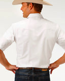 Men's Solid White Western Shirt