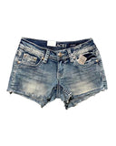Women's Daisy Embroidered Shorts