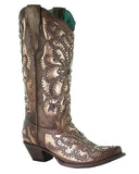 Women's Crystals and Studs Western Boots