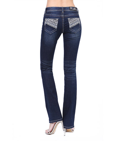 Women's Sequin Embellished Bootcut Jeans