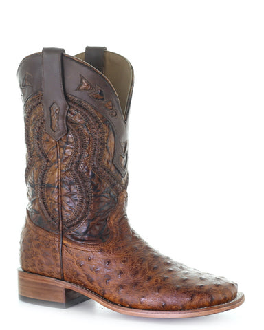 Men's Full Quill Ostrich Western Boots