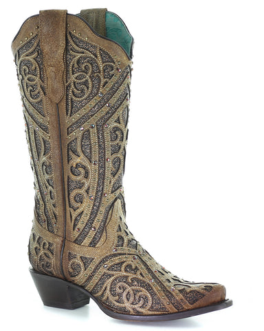 Women's Embroidery and Studs Western Boots