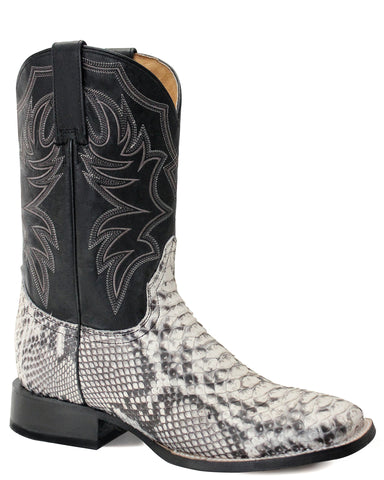 Men's Natural Python Western Boots