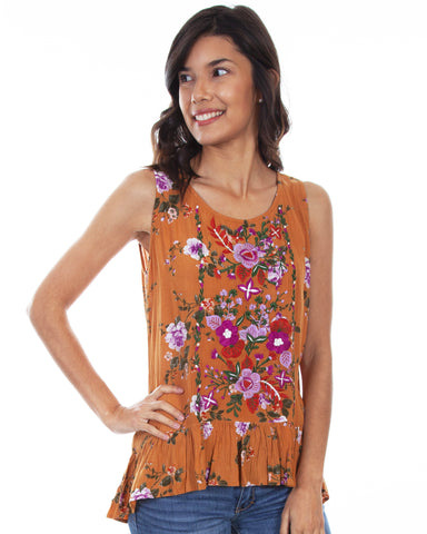 Women's Floral Sleeveless Blouse