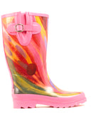 Women's Rose Watercolor Rain Boots