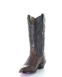 Men's Ostrich Embroidery Western Boots