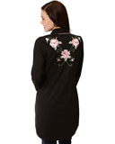 Women's Floral Embroidery Dress Western Shirt