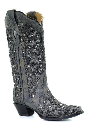 Women's Glitter and Crystals Boots