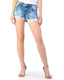 Women's Lace Embroidered Denim Shorts
