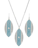Women's Cross Cut Marquise Jewelry Set