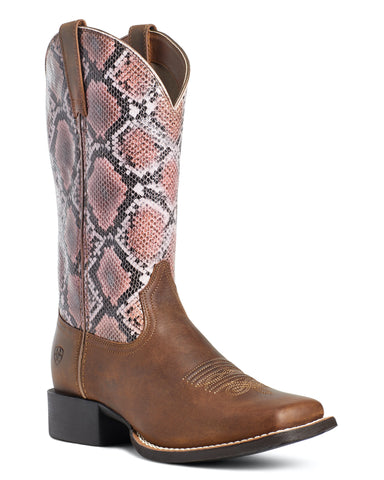Women's Round Up Square Toe Western Boots