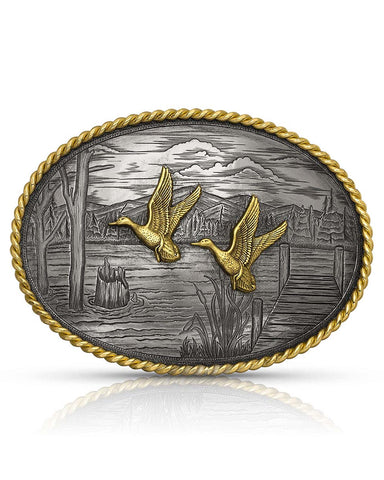On The Banks with Ducks Belt Buckle