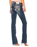 Women's Chloe Heavy Embellished Boot Cut Jean