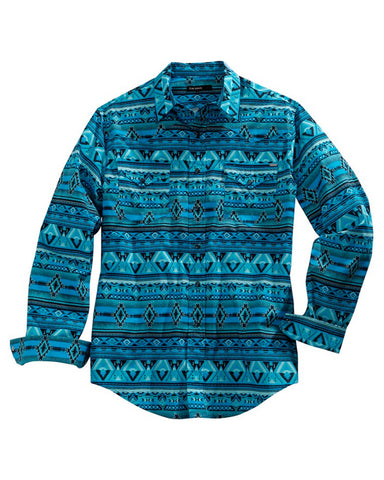 Men's Allover Aztec Western Shirt