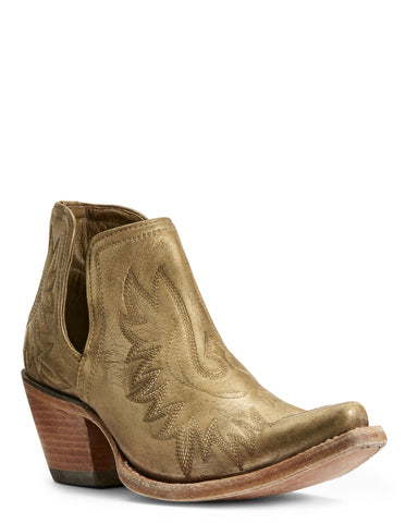 Womens Dixon Western Boots Distressed Gold
