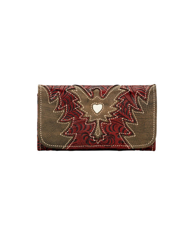 Women's Eagle Heart Wallet