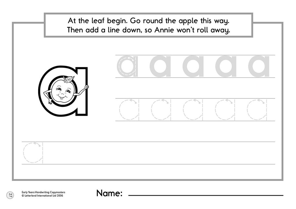 Early Years Handwriting Copymasters – Letterland USA