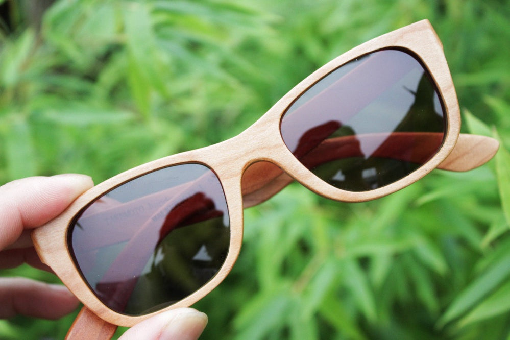 American cherry wood handmade glasses