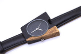 TAKE WATCH real handmade by designer two tone ebony A Quartz watches christmas gifts for her him