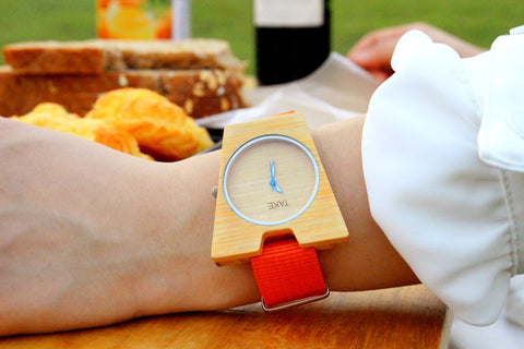 TAKE WATCH real handmade by designer bamboo A Quartz watches christmas gifts for her him