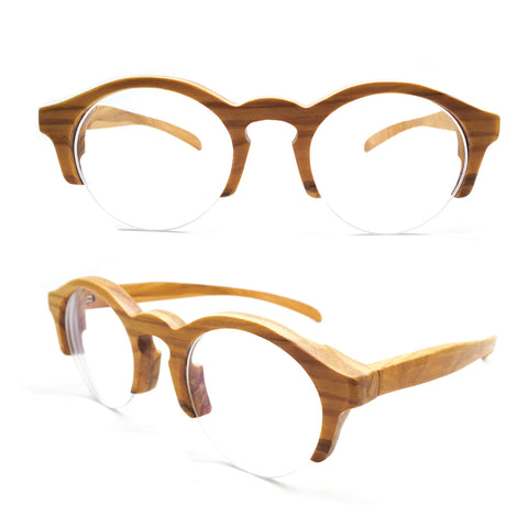 olive wood  THANKS2011 remi-rimless