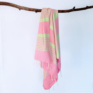Turkish Watermelon-Lime Towel