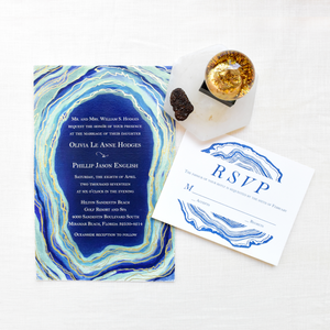 Geode Wedding Invitation