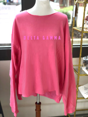 Delta Gamma Distressed Sweatshirt