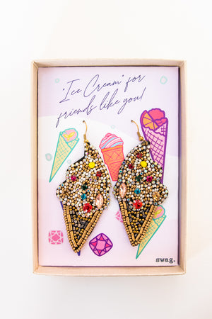 Ice Cream for friends like you! Earrings
