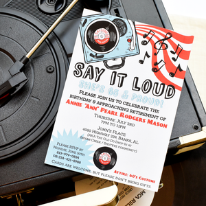Say It Loud Birthday Invitation