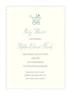 Scalloped Baby Shower Invitation
