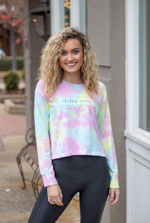 delta zeta: the twisted tie-dye tee