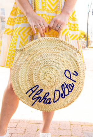 Pre-Order: Personalized Round Tote Bag - Royal