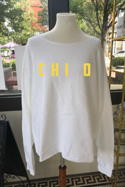 Chi O Distressed Sweatshirt