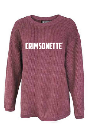 Crimsonette Corded Sweatshirt