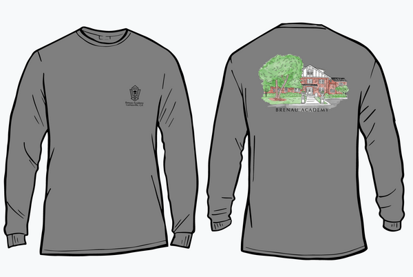 Brenau Academy Building Long Sleeve Tee