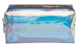 CROWNED HOLOGRAPHIC MAKEUP BAG