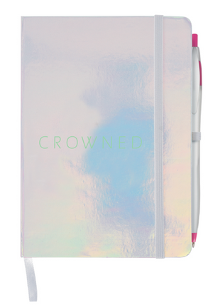 CROWNED IRIDESCENT NOTEBOOK