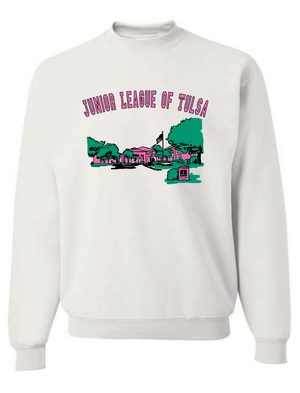Junior League of Tulsa: PRE-ORDER Retro Building Crewneck