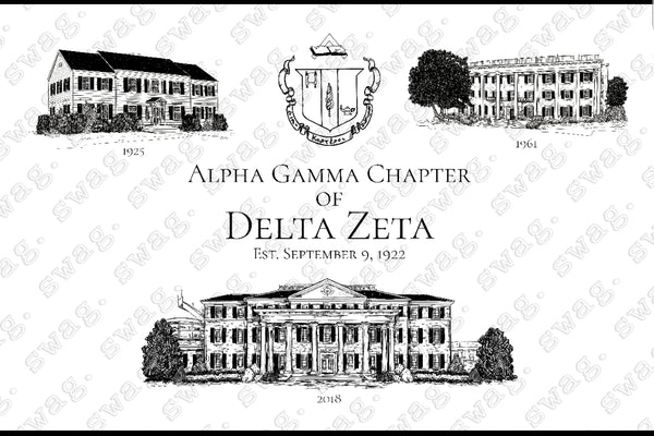 Delta Zeta House Print Package