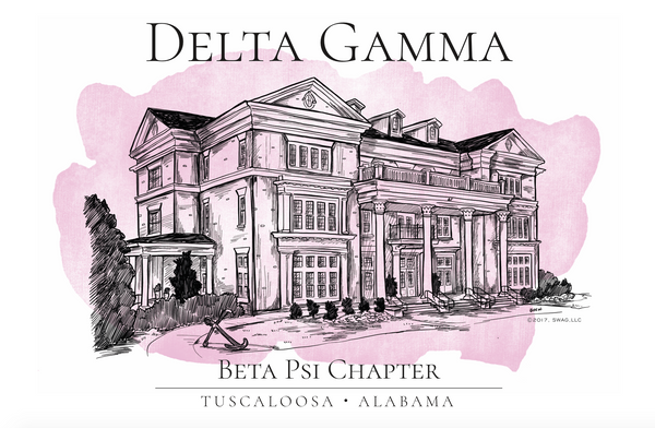 Delta Gamma Watercolor House Shirt