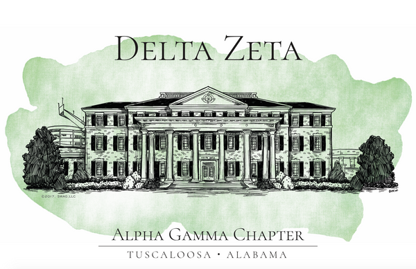 Delta Zeta Watercolor House Shirt